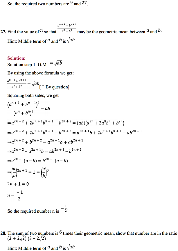 NCERT Solutions for Class 11 Maths Chapter 9 Sequences and Series Ex 9.3 33