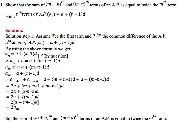 NCERT Solutions for Class 11 Maths Chapter 9 Sequences and Series Miscellaneous Exercise 1