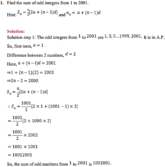 NCERT Solutions for Class 11 Maths Chapter 9 Sequences and Series Ex 9.2 1