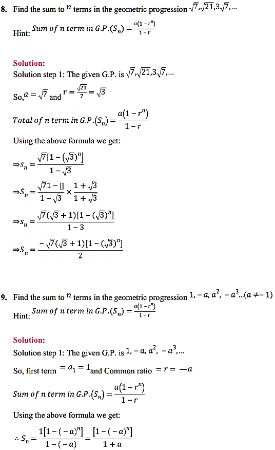 NCERT Solutions for Class 11 Maths Chapter 9 Sequences and Series Ex 9.3 10