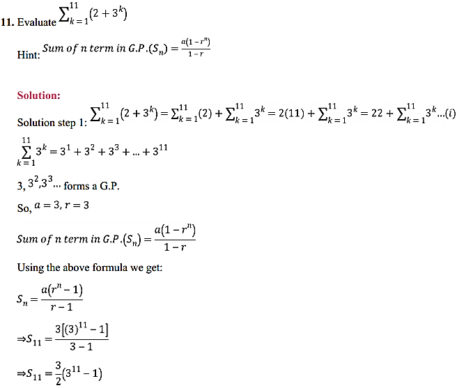NCERT Solutions for Class 11 Maths Chapter 9 Sequences and Series Ex 9.3 12