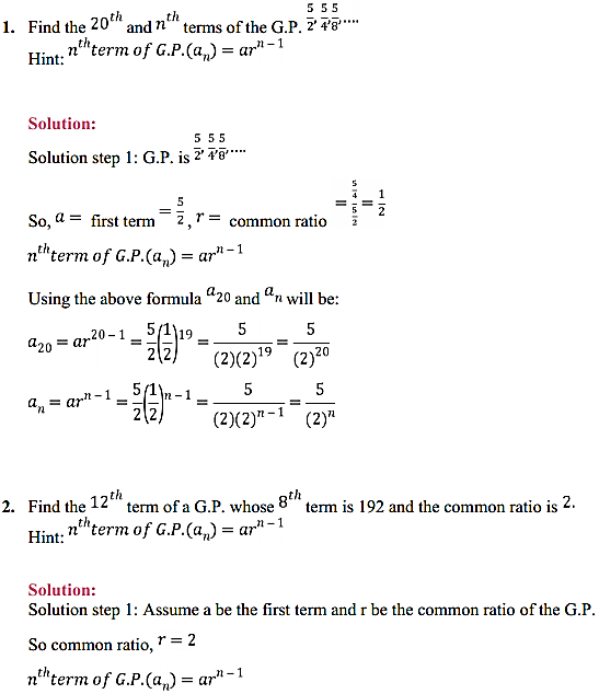 NCERT Solutions for Class 11 Maths Chapter 9 Sequences and Series Ex 9.3 1