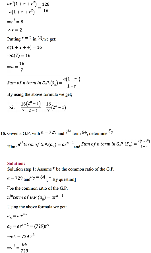 NCERT Solutions for Class 11 Maths Chapter 9 Sequences and Series Ex 9.3 16