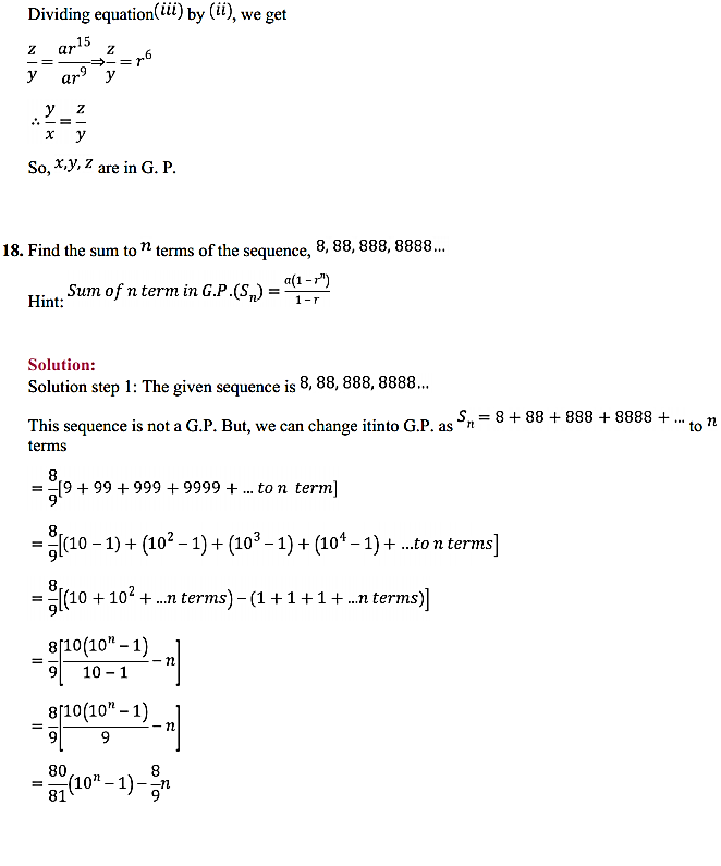 NCERT Solutions for Class 11 Maths Chapter 9 Sequences and Series Ex 9.3 21