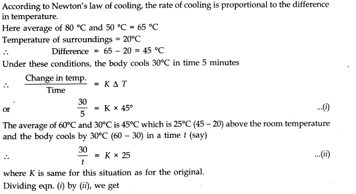 NCERT Solutions for Class 11 Physics Chapter 11 Thermal Properties of matter Q22