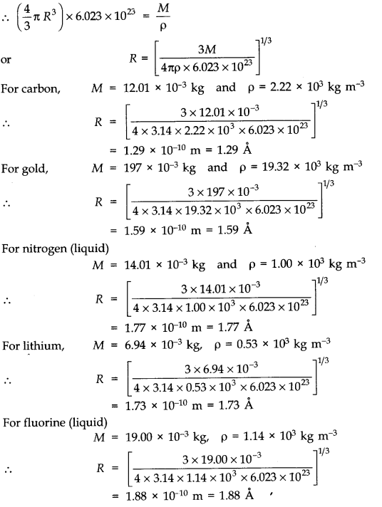 NCERT Solutions for Class 11 Physics Chapter 13 Kinetic Theory Q14.1