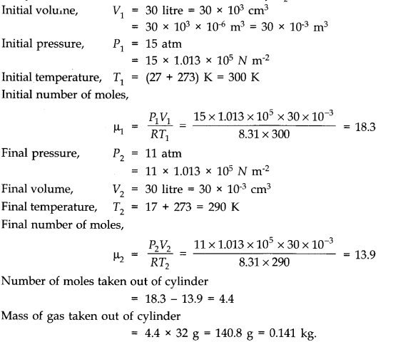NCERT Solutions for Class 11 Physics Chapter 13 Kinetic Theory Q4