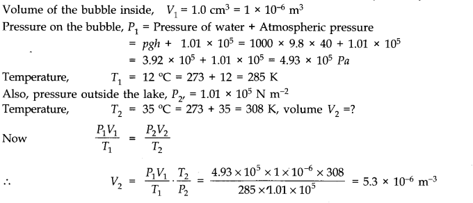 NCERT Solutions for Class 11 Physics Chapter 13 Kinetic Theory Q5