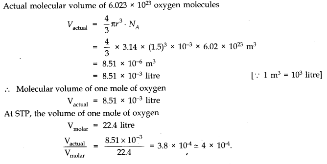 NCERT Solutions for Class 11 Physics Chapter 13 Kinetic Theory Q1