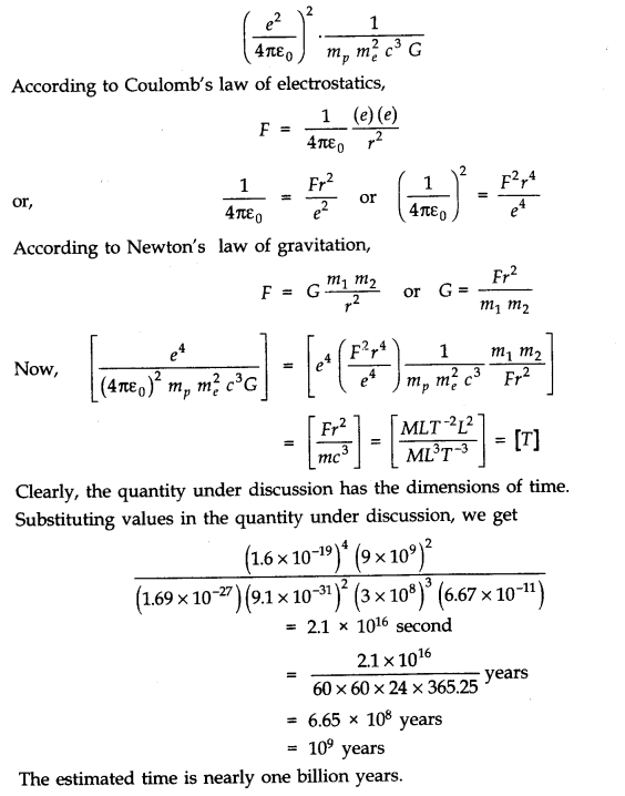 NCERT Solutions for Class 11 Physics Chapter 2 Units and Measurements Q33.1