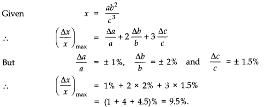 NCERT Solutions for Class 11 Physics Chapter 2 Units and Measurements Extra Questions SAQ Q8