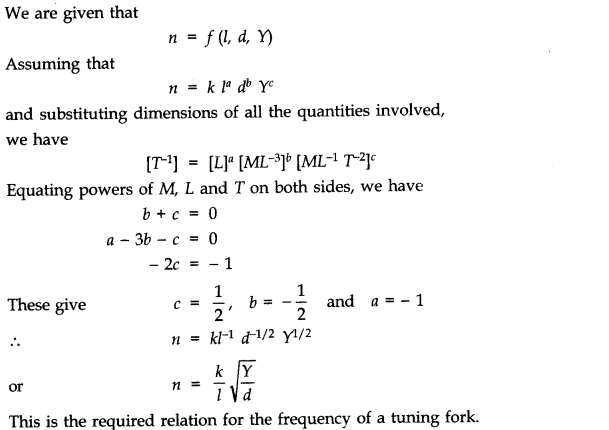 NCERT Solutions for Class 11 Physics Chapter 2 Units and Measurements Extra Questions SAQ Q13