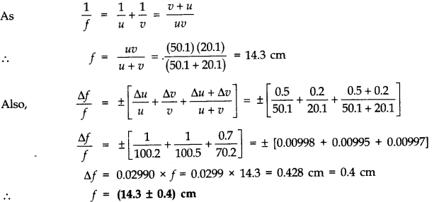 NCERT Solutions for Class 11 Physics Chapter 2 Units and Measurements Extra Questions SAQ Q14