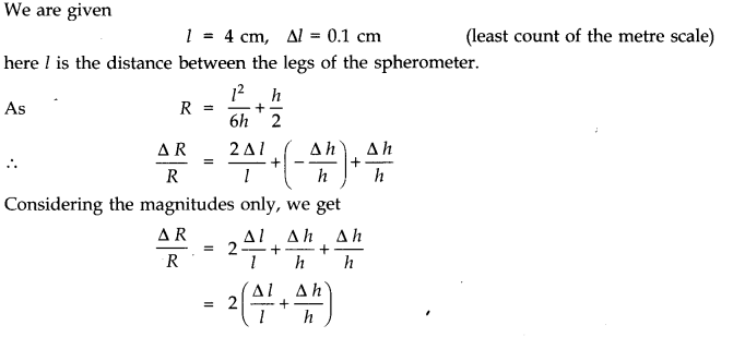 NCERT Solutions for Class 11 Physics Chapter 2 Units and Measurements Extra Questions SAQ Q19