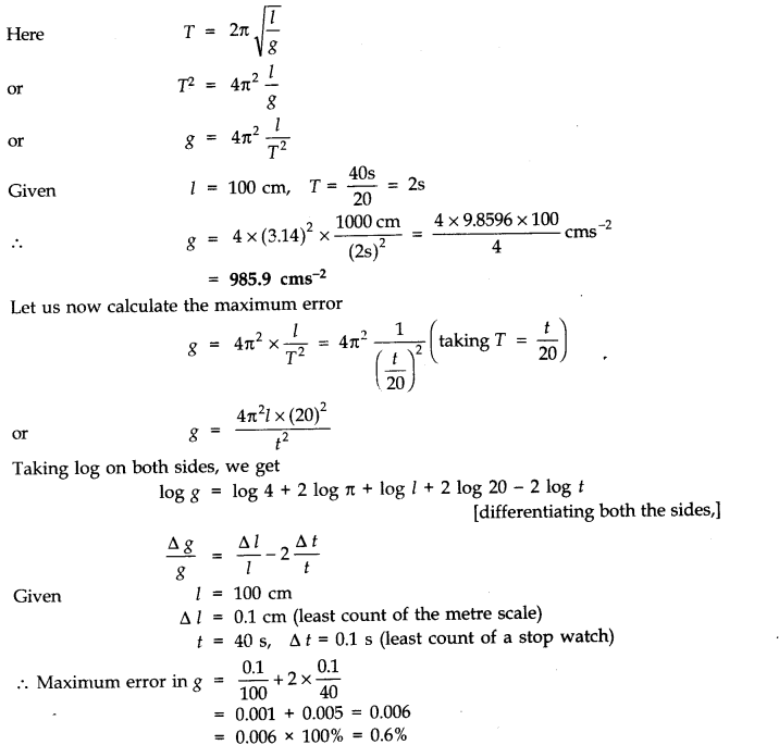 NCERT Solutions for Class 11 Physics Chapter 2 Units and Measurements Extra Questions LAQ Q2