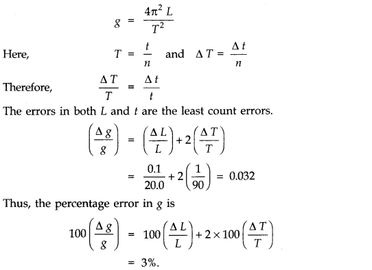 NCERT Solutions for Class 11 Physics Chapter 2 Units and Measurements Extra Questions HOTS Q6.1