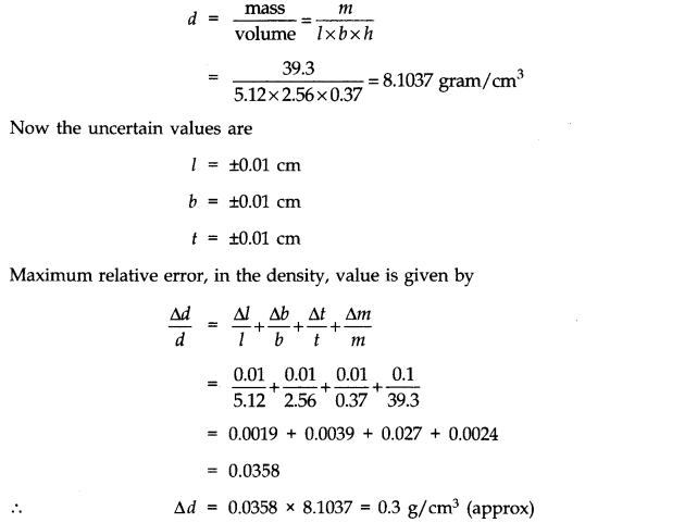 NCERT Solutions for Class 11 Physics Chapter 2 Units and Measurements Extra Questions HOTS Q12