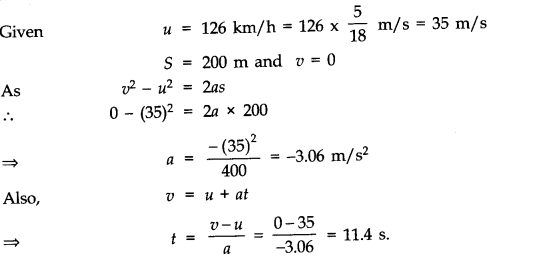 NCERT Solutions for Class 11 Physics Chapter 3 Motion in a Straight Line Q6
