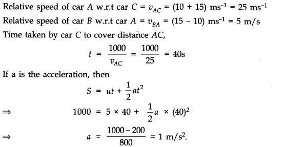 NCERT Solutions for Class 11 Physics Chapter 3 Motion in a Straight Line Q8.1