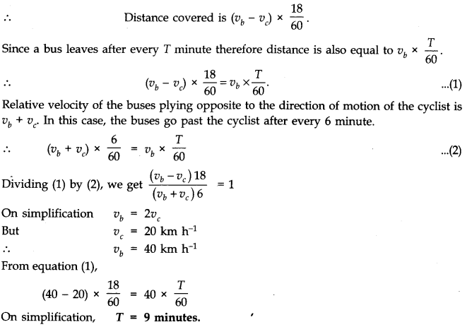 NCERT Solutions for Class 11 Physics Chapter 3 Motion in a Straight Line Q9