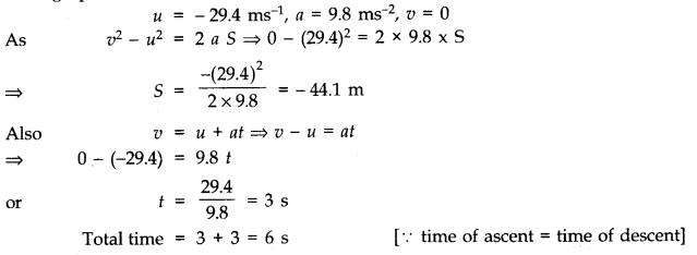 NCERT Solutions for Class 11 Physics Chapter 3 Motion in a Straight Line Q10