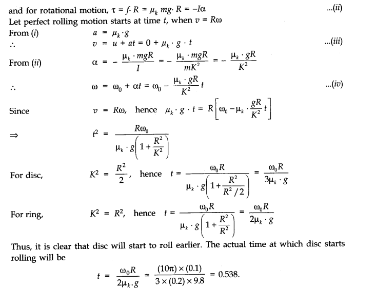 NCERT Solutions for Class 11 Physics Chapter 7 System of Particles and Rotational Motion Q30.1