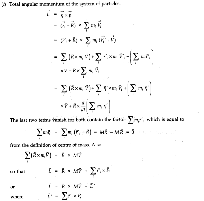 NCERT Solutions for Class 11 Physics Chapter 7 System of Particles and Rotational Motion Q33.3
