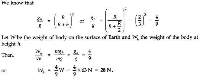 NCERT Solutions for Class 11 Physics Chapter 8 Gravitation Q15