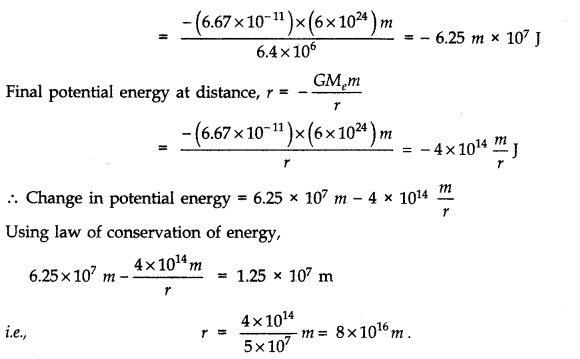 NCERT Solutions for Class 11 Physics Chapter 8 Gravitation Q17