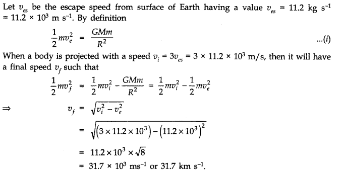 NCERT Solutions for Class 11 Physics Chapter 8 Gravitation Q18