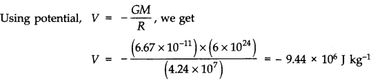 NCERT Solutions for Class 11 Physics Chapter 8 Gravitation Q22