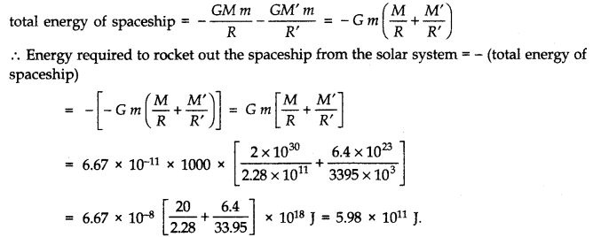 NCERT Solutions for Class 11 Physics Chapter 8 Gravitation Q24