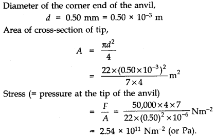 NCERT Solutions for Class 11 Physics Chapter 9 Mechanical Properties of Solids Q17.1