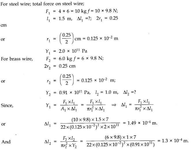 NCERT Solutions for Class 11 Physics Chapter 9 Mechanical Properties of Solids Q5.1
