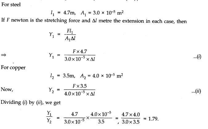 NCERT Solutions for Class 11 Physics Chapter 9 Mechanical Properties of Solids Q1