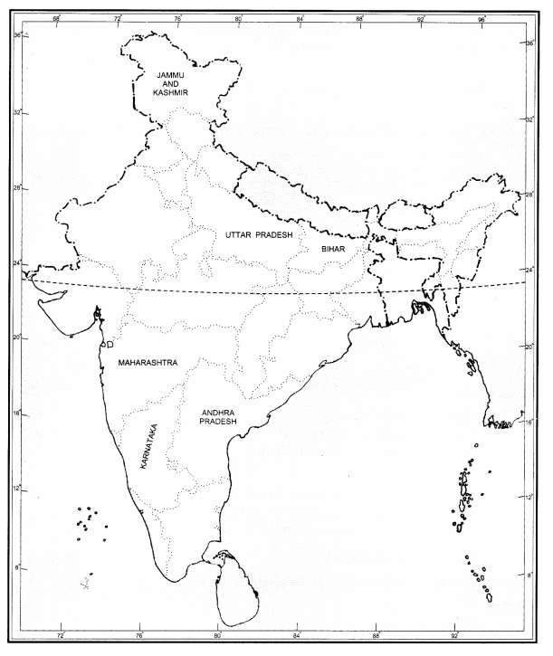 NCERT Solutions for Class 11 Political Science Chapter 5 Legislature Map Based Questions Q1