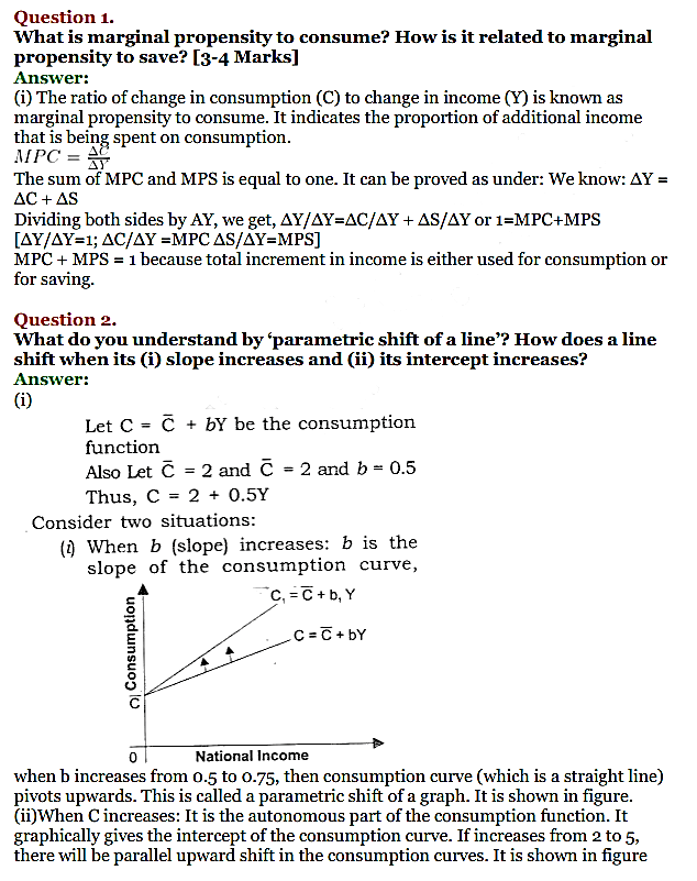 NCERT Solutions for Class 12 Macro Economics Chapter 5 Aggregate Demand and Its Related Concepts 1