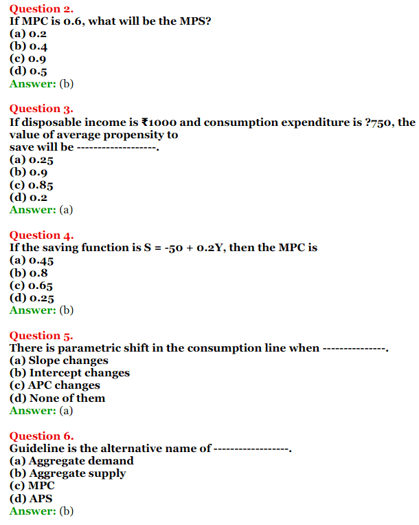 NCERT Solutions for Class 12 Macro Economics Chapter 5 Aggregate Demand and Its Related Concepts 6