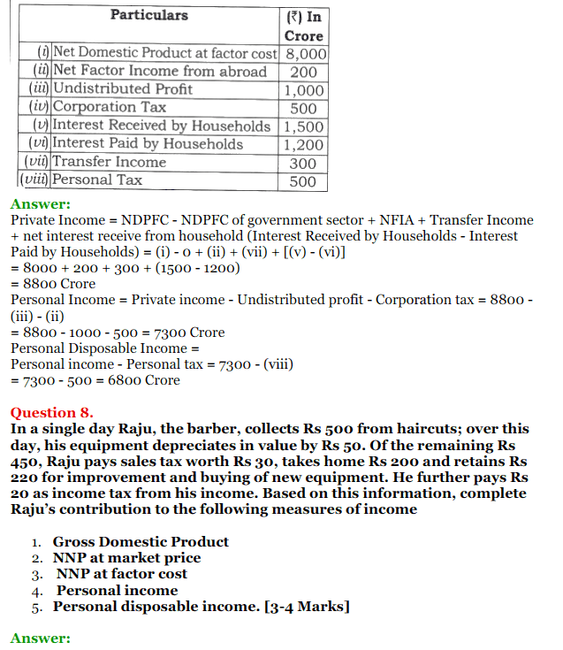 NCERT Solutions for Class 12 Macro Economics Chapter 2 National Income and Relation 3