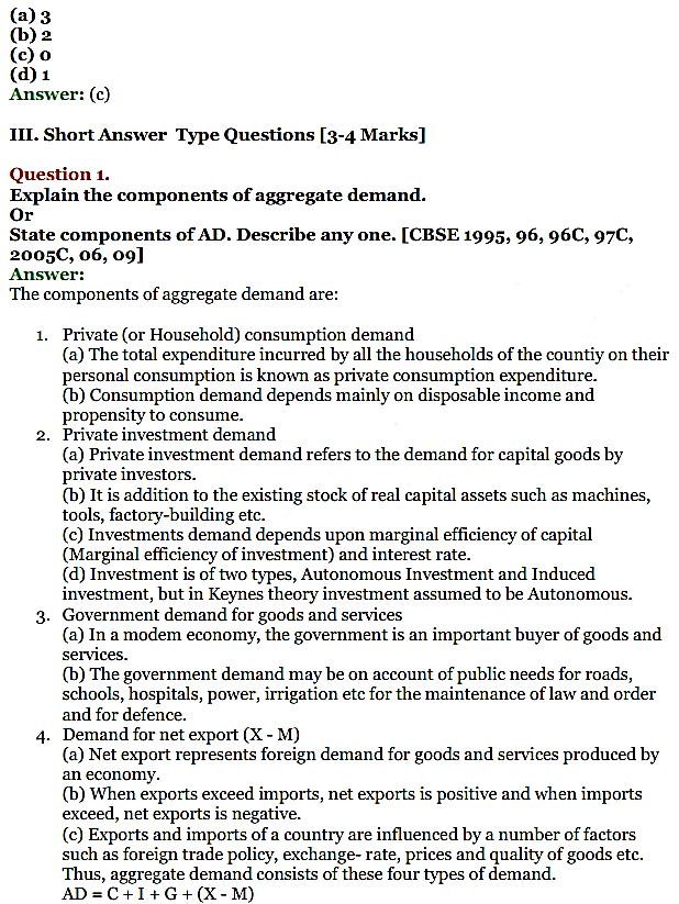 NCERT Solutions for Class 12 Macro Economics Chapter 5 Aggregate Demand and Its Related Concepts 8