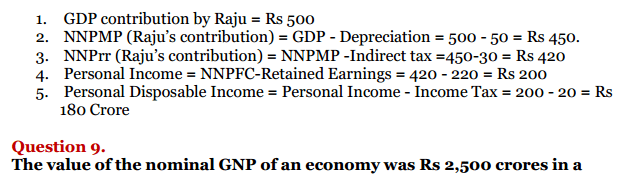 NCERT Solutions for Class 12 Macro Economics Chapter 2 National Income and Relation 4
