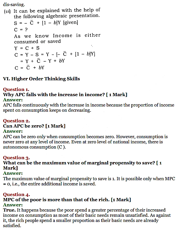 NCERT Solutions for Class 12 Macro Economics Chapter 5 Aggregate Demand and Its Related Concepts 23