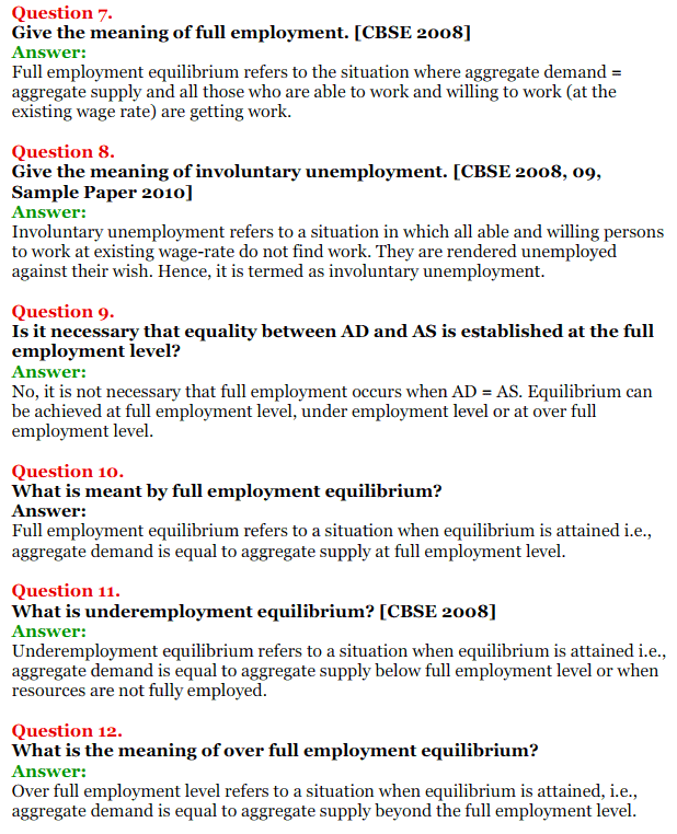 NCERT Solutions for Class 12 Macro Economics Chapter 7 Excess Demand and Deficient Demand 2