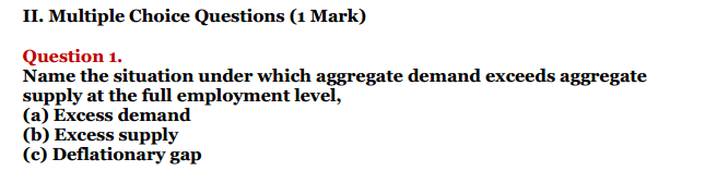 NCERT Solutions for Class 12 Macro Economics Chapter 7 Excess Demand and Deficient Demand 3