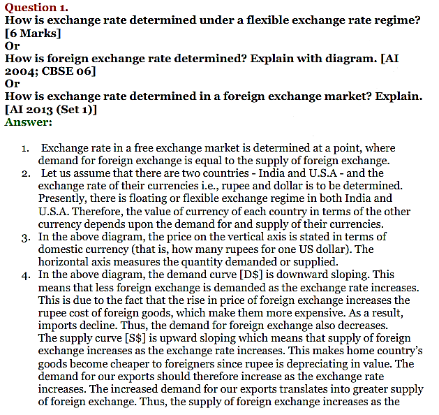 NCERT Solutions for Class 12 Macro Economics Chapter 9 Foreign Exchange Rate 1