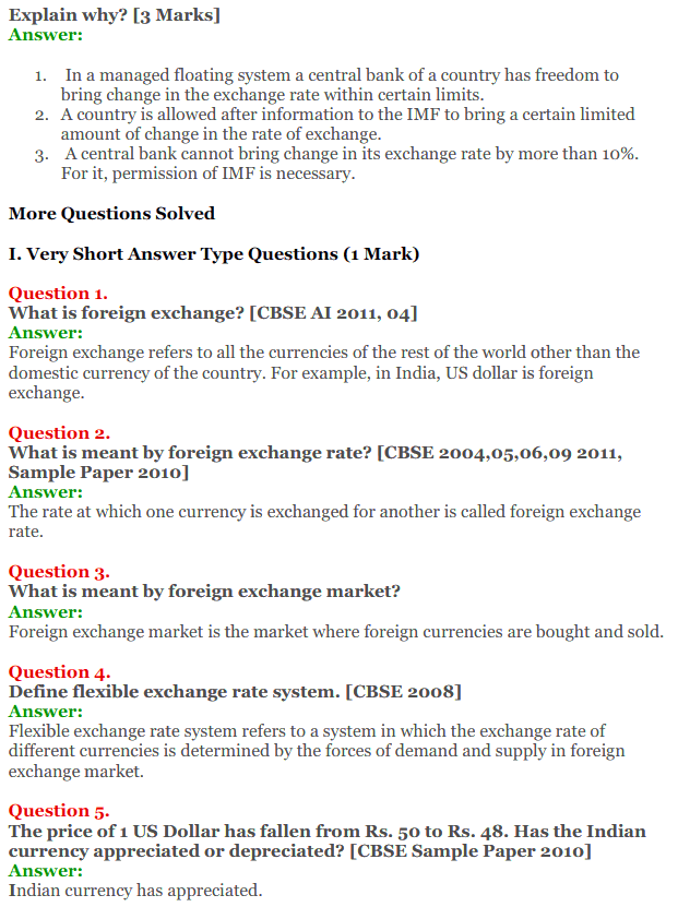 NCERT Solutions for Class 12 Macro Economics Chapter 9 Foreign Exchange Rate 4