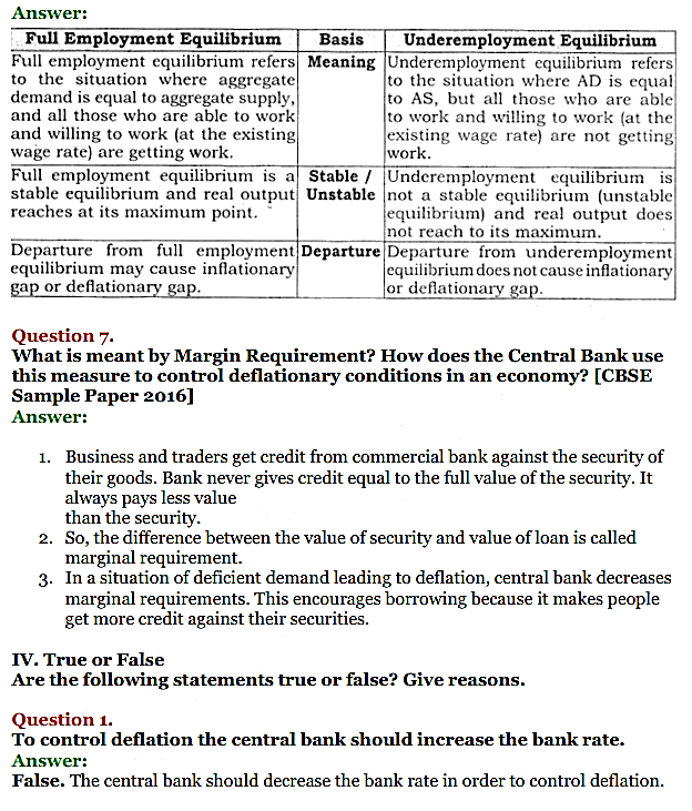 NCERT Solutions for Class 12 Macro Economics Chapter 7 Excess Demand and Deficient Demand 8