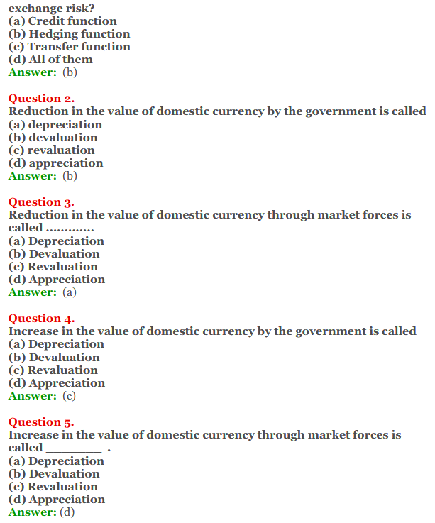 NCERT Solutions for Class 12 Macro Economics Chapter 9 Foreign Exchange Rate 6
