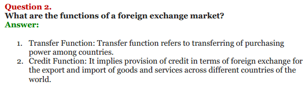 NCERT Solutions for Class 12 Macro Economics Chapter 9 Foreign Exchange Rate 11