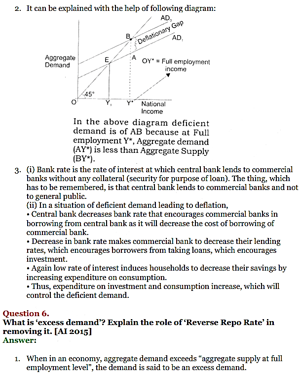 NCERT Solutions for Class 12 Macro Economics Chapter 7 Excess Demand and Deficient Demand 17